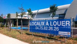 Panneau publicitaire sur pieds : Leclerc