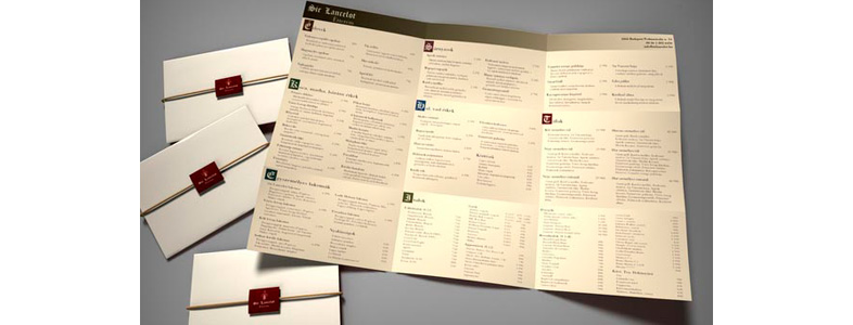 menu de restaurant design