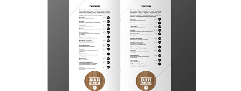 inspiration menu de restaurant
