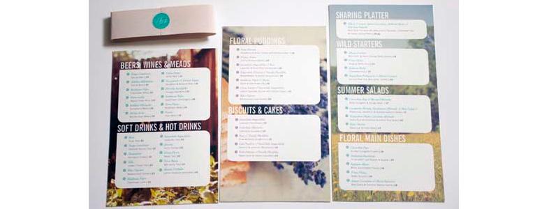 inspiration carte des menus