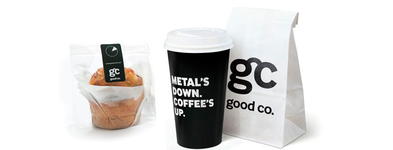 packaging design de coffee shop
