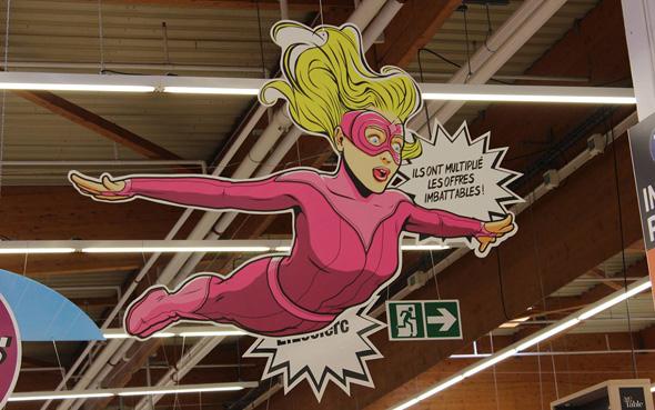 campagne de super héros pour les enseignes leclerc