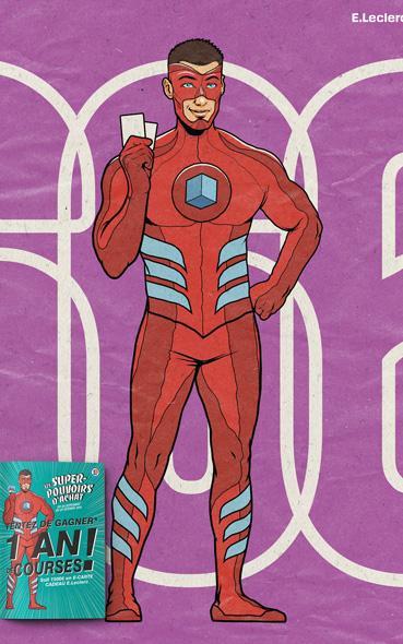 campagne de super héros - campagne publicitaire leclerc