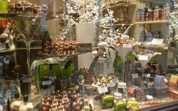 Decoration De Noel Vitrine Chocolatier