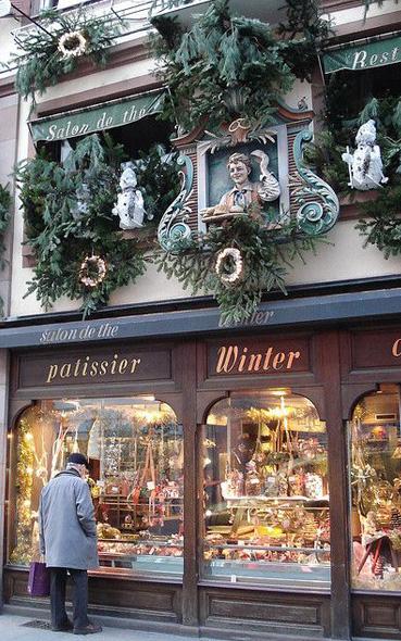 inspiration décoration vitrine pour noël