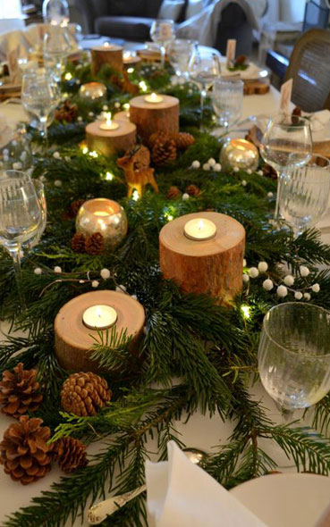 Inspiration table de restaurant de Noël