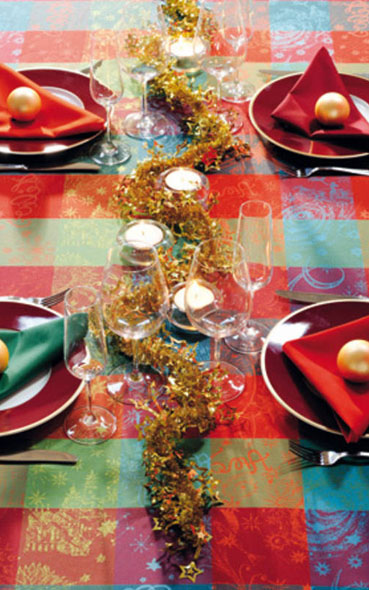 Inspiration table de noël de restaurant
