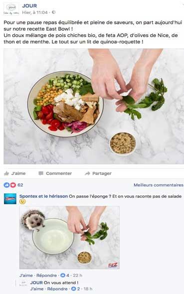 FACEBOOK - campagne virale de la marque Spontex