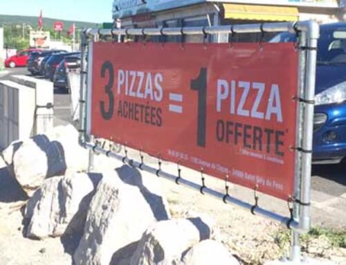PROJET – Enseigne publicitaire extérieure – Pizzeria Goûts & Saveurs