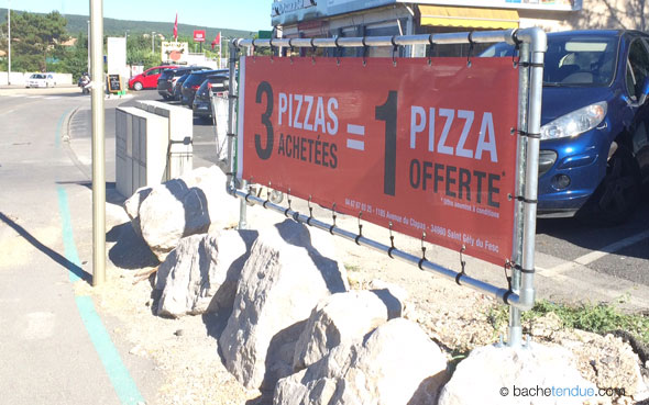 Projet enseigne publicitaire extérieure pizzeria