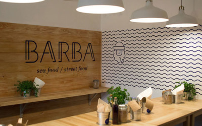 L'enseigne restaurant Barba - Packaging, goodies et supports publicitaires de restaurant