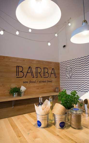 Agencement de magasin - Les identités visuelles du restaurant Barba à Dubrovnik