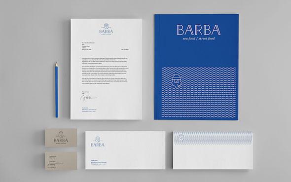 Enseigne restaurant - Les supports publicitaires du restaurant Barba