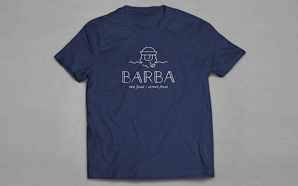 L'enseigne de restaurant Barba - T-shirt et goodies à s'inspirer