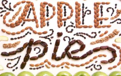 Top 60 de typos design réalisées à partir d'aliments !