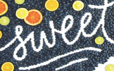 Top 60 de typos design réalisées à partir d'aliments par Becca Clason !
